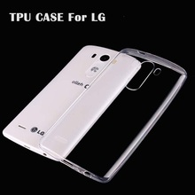 Ultra Thin Slim Clear Transparent Soft TPU For LG G3 G2 G4 Case For LG G3MINI G4mini G2MINI Cell Phone Back Cover Case