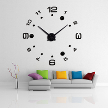2016 new wall clock diy clocks reloj de pared quartz watch europe living room large decorative horloge murale watches stickers