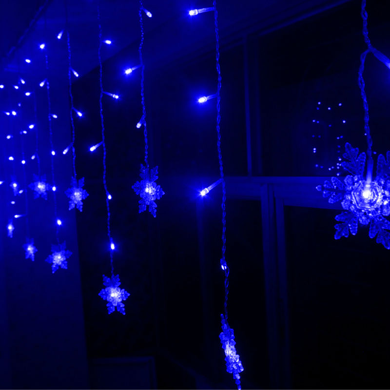 Christmas light curtain