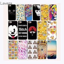 Lavaza 45af Emoji Smiley Black Cat Minions Hard Plastic Transparent Cases for Huawei P9 lite 2016 fundas p9lite(China)