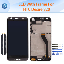 Original LCD for HTC Desire 820 LCD display touch screen digitizer glass frame bezel full assembly+up bottom cap repair tools