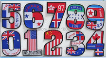 USA Star-Spangled Banner number iron On patches woven label embroidered Appliques Made of Cloth wholesale 100pcs/lot(China)