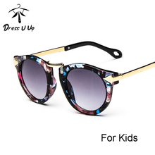 DRESSUUP Baby Boys Girls Kids Sunglasses Vintage Round Sun Glasses Children Arrow Glass 100%UV Protection Oculos De Sol Gafas(China)
