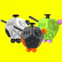 NEW 12 Side Magic Fidget Cube Strange Shape Stress Relief Puzzles Plastic Desk Toy Generation 2 Funny Decompression Cube Gift