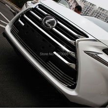 ABS Chrome Front Upper Grille for 2015 2016 Lexus NX 200 NX200T NX300H Center Grill Cover Around Trim Car Styling Accessories(China)