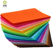 Polyester Felt Fabric Cloth DIY Handmade Sewing Home Decor Material Thickness 1mm Mix 40 Colors 10x15cm 3.9inchx5.9inch N-10D(Hong Kong)