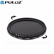 49mm - 82mm Filter ND Fader Neutral Density Adjustable Variable Filter ND 2 to ND 400 Filter for CANON Nikon SONY Camera