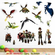 How To Train Your Dragon Movie Poster Film Diy Cartoon Wall Sticker Kids Room Decor Home Decoration Children Xmas Gifts Supplies