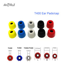 10pcs/5pair T500 M 12.5mm 4.9mm Caliber Ear Pads/cap Comply memory ear foam eartips for in ear Headphones tips Sponge Ear cotton