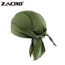 Zacro Quick Dry Pure Cycling Cap Head Scarf Summer Men Running Riding Bandana Headscarf Ciclismo Pirate Hat Hood Headband(China)