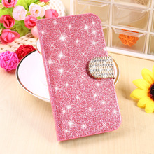 Stand Flip PU Leather Housing For Samsung Galaxy Ace 3 3G S7270 LTE S7275 S7272 S7278 Covers Bling Cell Phone Holster Bags