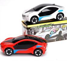 2014 latest fashion must universal sound and light car toys, electric car toy, free shipping