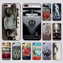 Hot Sale Volkswagen vw bus design hard black Case Cover for Apple iPhone 7 6 6s Plus SE 5 5s 5c 4 4s