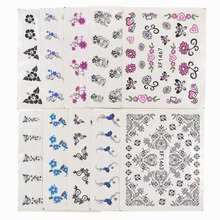 YZWLE 50 Sheets Mixed Styles DIY Decals Nails Art Water Transfer Printing Stickers For Nails Salon(China)