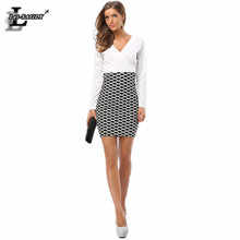 Plus Size Autumn Womens Dress Bodycon Casual Knitted Wrap Tunic Long Sleeve Plaid Office Pencil Japanese Work Elegant Dress 9012