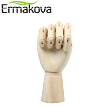 ERMAKOVA 12 Inches Tall Wooden Hand Drawing Sketch Mannequin Model Wooden Mannequin Hand Movable Limbs Human Artist Model(China)