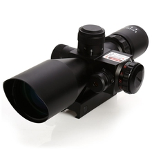 2.5 - 10 x 40 Tactical Rifle Scope with Red Laser Dual Illuminated Mil-dot W / Rail Mount Airsoft Riflescope Telescopic Sight