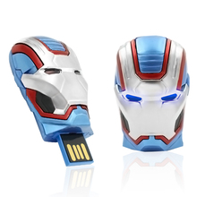 2015 New arrival USB Flash Drive 8GB 16GB 32GB Pendrive U Disk Pen drive memory stick the Iron Man War Machine Gift(China)