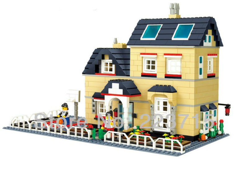 Free Shipping!*Manor 2* DIY enlighten block bricks,Compatible With other Assembles Particles<br>