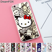 DREAMFOX K119 HELLO KITTY Soft TPU Silicone Case Cover For Apple iPhone 8 X 7 6 6S Plus 5 5S SE 5C 4 4S(China)
