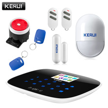 2017 NEW arrival kerui W193 WiFi 3G GSM PSTN RFID Wireless smart Home Security Alarm System DIY kit