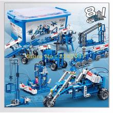 6903 514pcs 8in1 Technic Motorcycle Plane Train Pirate Ship Crane Robot Cable Car Moonmobile Electric Building Block(China)