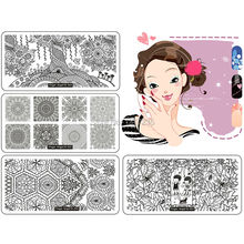 New Design 10Pcs/Lot Stamp Image Nail Art Stamping Plate DIY Image Plate Template JT149