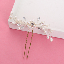 1pcs/lot Elegant Bridal Wedding Crystal Pearl Flower Hair Pins Charm Handmade Bridesmaid Bridal Veil Jewelry Hair Accessories