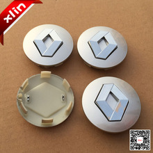 4pcs Hot sale 57mm Silver Renault logo car emblem Wheel Center Hub Cap badge covers styling Free shipping