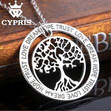 11.11 SUPER DEAL inspiration Silver tree of life life tree pendant necklace totem religion apple tree lady vintage trust hope(China)