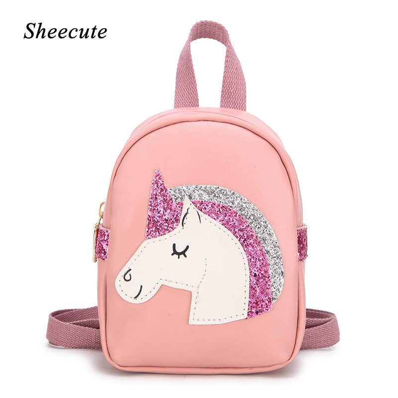 Unicorn Backpack for Preschool /& Toddler Girls Cute Animal Cartoon Mini Bag