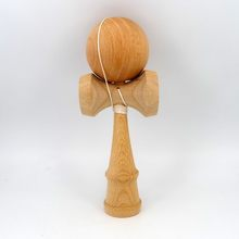 Natural Beech Kendama NO Rivet $3.17 USD wholesale Unpainted and Plain Kendama 18CM Beech kendama, separable cup and handle(China)