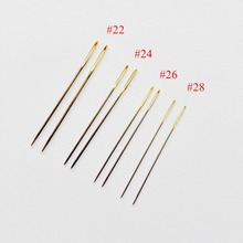 10 pcs / lot #26 #24 #22 # 28 golden tail Needles for aida 9ct 11ct 14ct 18ct fabric cross stitch blunt embroider DIY needlework