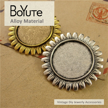 BoYuTe (20 Pieces/Lot) 25MM 2 Colors Cabochon Base Zinc Alloy Materials Brooch Base Bezel Pendant for Jewelry Findings