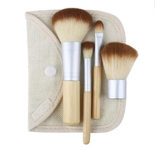 1set/4Pcs Beauty Professional Foundation Make Up Cosmetic Bamboo Brushes Makeup Brush Set Kit Tools Eye Shadow Blush Brush(China)