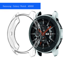New Protective Case For Samsung Galaxy Watch 42mm 46mm Smart Watch Accessories Plating TPU protection shell Cover frame(China)