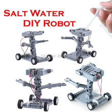 Salt Water Power DIY Toys Science and Technology Toys Building Blocks Science Model Kits,Educational DIY Robot Toys For kids