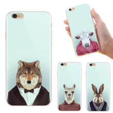 Funny Animal Printed Cartoon Case For iPhone 6 6S Plus 5 5S SE 4S For Samsung Galaxy S4 S5 S6 Edge Plus S7 Edge Cell Phone Cover