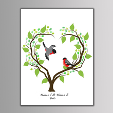 Festival Personality Wedding Souvenirs Guest Book DIY Fingerprint Tree Signature Canvas Painting Celebrate Romantic Decoration(China)