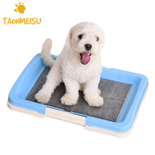 Pet Dog Toilet Tray Cat Pad Indoor Pet Potty Toilet Puppy Pee Training Clean Tray Newest(China)