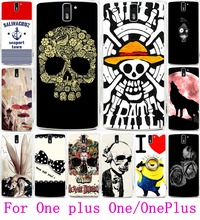 AKABEILA Cool Skull Head Phone Cases For OnePlus One OnePlus1 Covers Soft TPU & Hard PC For  OnePlus A0001 A1000 A1001