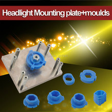 Headlight Retrofit Tool 7 Pcs H1/H4/H7/H11/D2/HB3/HB4 Mounting Moulds + 1PC Mouting Plate for Q5 Koito Hella 3/5 Projector Lens