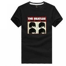 Chinese Size S~3XL rock tee shirt boy girl tshirt THE BEATLES A Hard Days Night with head photo t shirt short sleeve t-shirt(China)