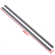 2pcs Carbon Stirring Rod Mayitr Graphite Electrode Bar 300x8mm For Gold Silver Melting Light Industry Tools