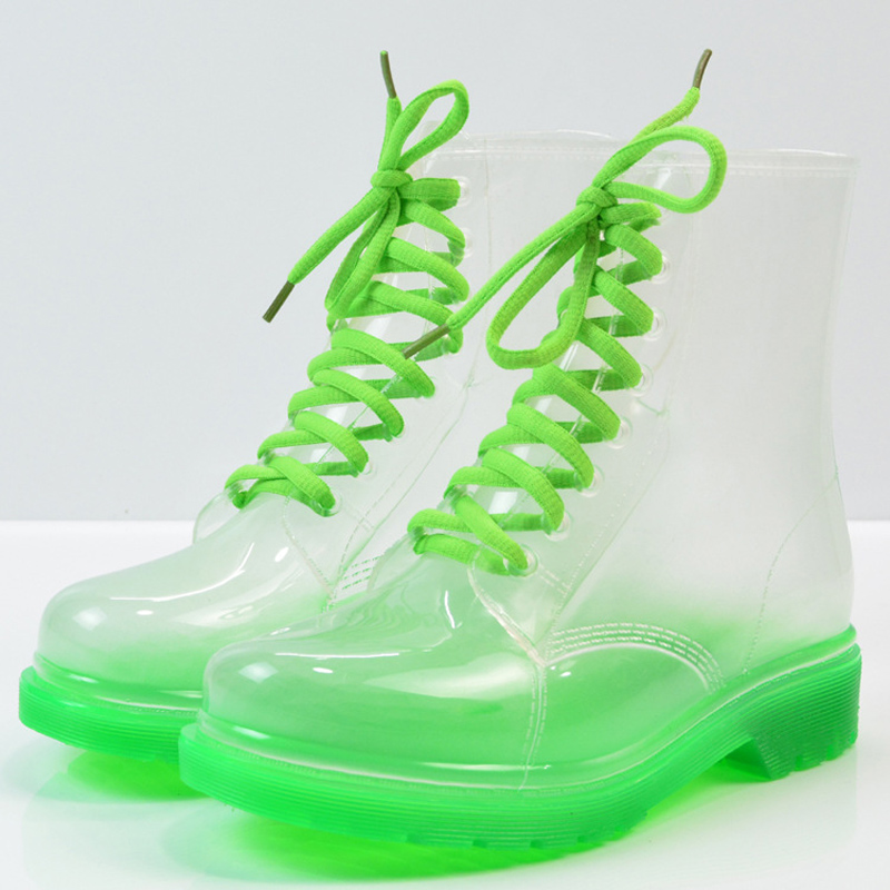Shop sale Jelly Shoes Waterproof Rain Boots Ladies Transparent Boots
