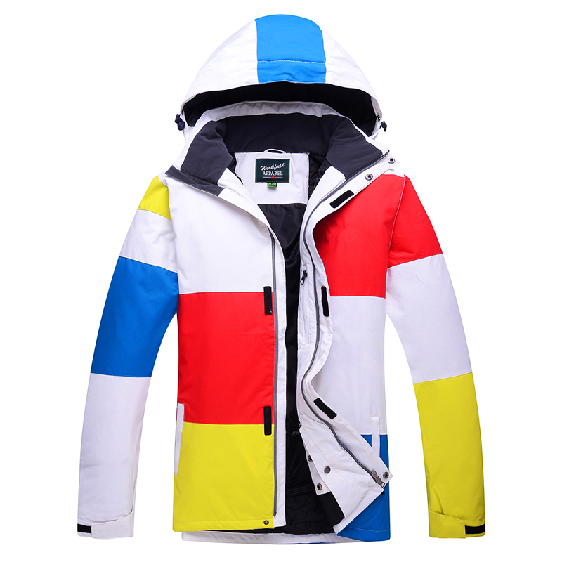 Mens Patchwork Ski Wear Waterproof Breathable Winter Thick Warm Outdoor Mountaineering Mens Jacket Ski Suit Skiing Wear MJ1511<br><br>Aliexpress