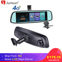 "Junsun ADAS 4G DVR Car GPS navigation recorder mirror 7.86"" Android with two camera navigator dash cam Registrar black box(China)"