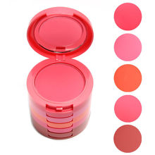 5 Colors Makeup Blush Face Blusher Powder Palette Cosmetics Free Shipping M01268(China)