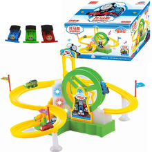 New Hot Children's educational toys electric Thomas Train Track Park Ferris wheel toys for children Christmas gift brinquedos