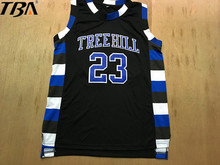 2017 New Basketball Jersey Nathan Scott 23 One Tree Hill Ravens Basketball Jersey Black Throwback Sleeveless Breathable Stitched(China)
